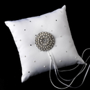 Elegance by Carbonneau RP-92-Brooch-65-S-Ivory Ring Pillow 92 with Silver Ivory Pearl Round Sunburst Brooch 65