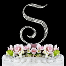 Elegance by Carbonneau S-Completely-Covered Completely Covered ~ Swarovski Crystal Wedding Cake Topper ~ Letter S