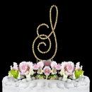 Elegance by Carbonneau S-Renaissance-Gold Renaissance ~ Swarovski Crystal Wedding Cake Topper ~ Gold Letter S