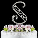 Elegance by Carbonneau S-Roman Romanesque ~ Swarovski Crystal Wedding Cake Topper ~ Letter S