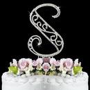 Elegance by Carbonneau S-Roman Romanesque ~ Swarovski Crystal Wedding Cake Topper ~ Letter S