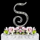 Elegance by Carbonneau S-Vintage Vintage ~ Swarovski Crystal Wedding Cake Topper ~ Letter S