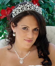 Elegance by Carbonneau Set-HP13091-NE8265 Matching Regal Bridal Tiara & Jewelry Set HP 13091 & NE 8265