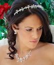 Elegance by Carbonneau Set-HP7020-NE7607 Matching Pearl Bridal Jewelry & Headband Style Tiara HP 7020 & NE 7607