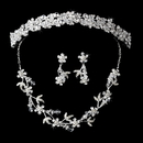 Elegance by Carbonneau Set-HP7095-NE7206DangleEarrings Couture Crystal Matching Jewelry & Tiara Set NE 7206 Dangle Earring & HP 7095