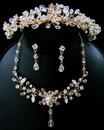 Elegance by Carbonneau Set-HP-8003-NE-8003-b Couture Crystal Matching Jewelry & Tiara Set NE 8003 & HP 8003
