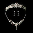Elegance by Carbonneau Set-HP-8003-NE-8003- Couture Crystal Matching Jewelry & Tiara Set NE 8003 & HP 8003