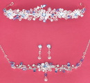 Elegance by Carbonneau Set-HP8003-NE8003 Matching Bridal Jewelry & Tiara Set NE 8003 & HP 8003