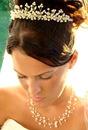 Elegance by Carbonneau Set-NE3976-HP727 Matching Pearl Illusion Bridal Jewelry & Headpiece NE 3976 & Coordinating Tiara HP 727