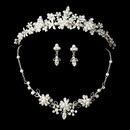 Elegance by Carbonneau Set-NE6858-HP8452 Pearl & Crystal Jewelry & Tiara Set: NE 6858 & HP 8452