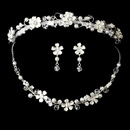 Elegance by Carbonneau Set-NE6878-HP7877 Pearl & Crystal Bridal Jewelry & Tiara Set
