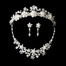 Elegance by Carbonneau Set-NE8001-HP6443 Pearl & Crystal Bridal Necklace Earring & Tiara Set