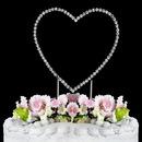 Elegance by Carbonneau Single-Heart-Renaissance-Silver Renaissance ~ Swarovski Crystal Wedding Cake Topper ~ Single Silver Heart