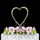 Elegance by Carbonneau Single-Small-Heart-Completely-Covered-Gold Completely Covered ~ Swarovski Crystal Wedding Cake Topper ~ Single Small Gold Heart