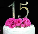 Elegance by Carbonneau Sm-Sweet-Flower-Set French Flower ~ Small Sweet 15 & Sweet 16 Cake Topper Set