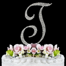 Elegance by Carbonneau T-Completely-Covered Completely Covered ~ Swarovski Crystal Wedding Cake Topper ~ Letter T