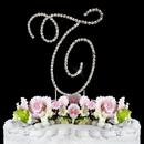 Elegance by Carbonneau T-Renaissance-Silver Renaissance ~ Swarovski Crystal Wedding Cake Topper ~ Silver Letter T