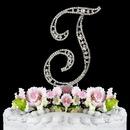 Elegance by Carbonneau T-Vintage Vintage ~ Swarovski Crystal Wedding Cake Topper ~ Letter T