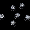 Elegance by Carbonneau Twist-1-Clear 12 Delightful Silver Clear Rhinestone Flower Twist-Ins 01