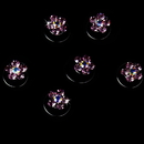 Elegance by Carbonneau Twist-1-Pink Pink Crystal Rhinestone Twist In Hair Spinners (Set of 12)