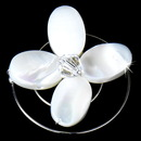 Elegance by Carbonneau Twist-9 Centered Accented Flower Shell Twist-In-9