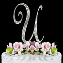 Elegance by Carbonneau U-Completely-Covered Completely Covered ~ Swarovski Crystal Wedding Cake Topper ~ Letter U