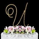 Elegance by Carbonneau U-Renaissance-Gold Renaissance ~ Swarovski Crystal Wedding Cake Topper ~ Gold Letter U