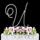Elegance by Carbonneau U-Renaissance-Silver Renaissance ~ Swarovski Crystal Wedding Cake Topper ~ Silver Letter U