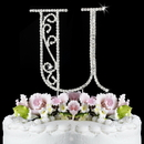 Elegance by Carbonneau U-Roman Romanesque ~ Swarovski Crystal Wedding Cake Topper ~ Letter U