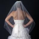 Elegance by Carbonneau V-1146-1F Single Layer Fingertip Bridal Wedding Veil with Rhinestone & Beading V 1146 1F