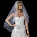 Elegance by Carbonneau V-1160- Single Layer Floral beaded Waltz Length bridal wedding Veil 1160