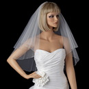Elegance by Carbonneau V-117-E Double Layer Elbow Length Veil wit Sparkling Edge of Rhinestones 117