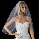 Elegance by Carbonneau V-1527-1E Bridal Wedding Single Layer Elbow Length Veil 1527