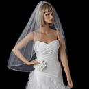 Elegance by Carbonneau V-1554-1F Bridal Wedding Single Layer Fingertip Length Veil 1554 1F