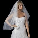 Elegance by Carbonneau V-719 Bridal Wedding Double Layer Fingertip Length, Scattered Crystals Veil 719
