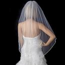 Elegance by Carbonneau V-900-1F Bridal Wedding Single Layer Fingertip Length Veil 900 1F