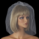 Elegance by Carbonneau V-Cage-500 Fine Single Tier Bridal Wedding Birdcage Face Veil Blusher 500