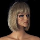 Elegance by Carbonneau V-Cage-900-Black Single Layer Black Russian Birdcage Face Veil for Weddings Cocktail Parties & More! 900