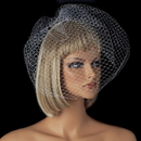 Elegance by Carbonneau V-CAGE-900 Plain Single Layered French Netting Birdcage Face Veil 900
