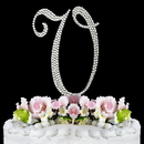 Elegance by Carbonneau V-Completely-Covered Completely Covered ~ Swarovski Crystal Wedding Cake Topper ~ Letter V