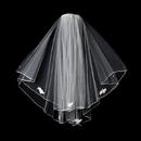 Elegance by Carbonneau Veil-510-Ivory Veil 510 Ivory - Shoulder Length Veil w/Rosette Appliques (20