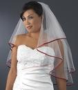 Elegance by Carbonneau Veil-655-Ivory-Red Veil 655 Ivory - Red Satin Ribbon Edge (24