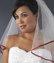 Elegance by Carbonneau Veil-655 Veil with Red Satin Ribbon Edge Veil-655