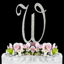 Elegance by Carbonneau W-Completely-Covered Completely Covered ~ Swarovski Crystal Wedding Cake Topper ~ Letter W