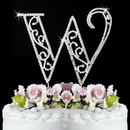 Elegance by Carbonneau W-Roman Romanesque ~ Swarovski Crystal Wedding Cake Topper ~ Letter W