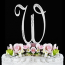 Elegance by Carbonneau W-Sparkle-Silver Sparkle ~ Swarovski Crystal Wedding Cake Topper ~ Silver Letter W