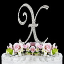 Elegance by Carbonneau X-Completely-Covered Completely Covered ~ Swarovski Crystal Wedding Cake Topper ~ Letter X