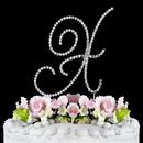 Elegance by Carbonneau X-Renaissance-Silver Renaissance ~ Swarovski Crystal Wedding Cake Topper ~ Silver Letter X