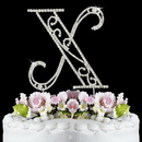 Elegance by Carbonneau X-Roman Romanesque ~ Swarovski Crystal Wedding Cake Topper ~ Letter X