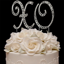 Elegance by Carbonneau XO-Vintage Vintage ~ Swarovski Crystal XO Hugs & Kisses Wedding Anniversary Cake Top